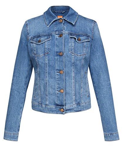 BOSS Damen Orange J90 Portland Jacke, Blau (Medium Blue 423), 36 (Herstellergröße: S)