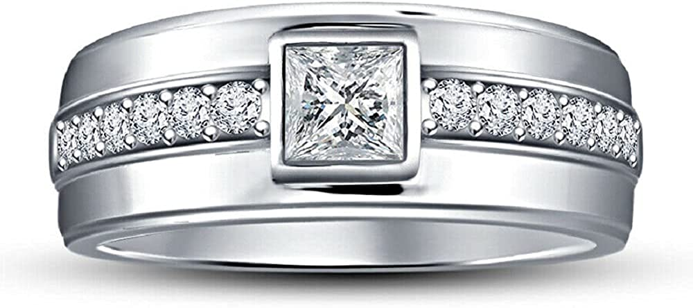 KSHITIJ JEWELS 14k White Gold Sterling 925 Finish In a popularity Princes Silver 2021 model