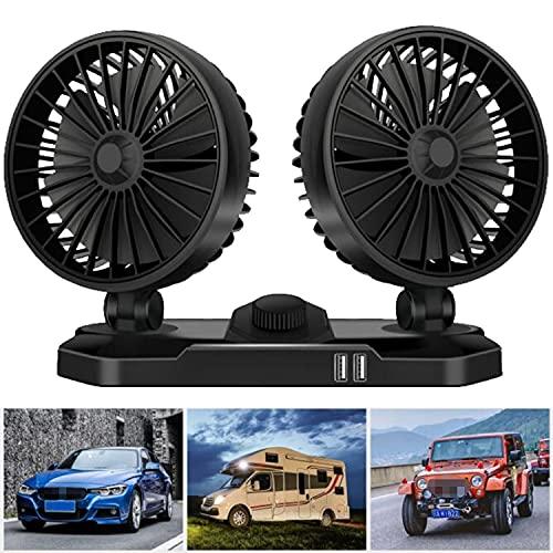 Ventilador de coche de 12 V, ventilador de aire de refrigeración, potente...