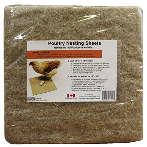 Terrafibre Hemp Poultry Sheets, 5 Pack 13' x13'