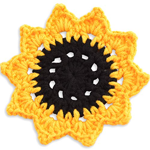 Crochet Doilies 4 Inch Coaster Set, Doily Crochet Coasters Set with Holder,...