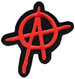 Anarchy A Aufnäher Aufbügler Patch Anarchie Punk Anonymous Hacker Links (Klein Rot)