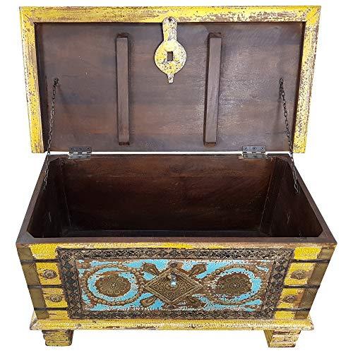 Indoortrend.com Truhe Kiste Holztruhe Box 80 Vintage Massiv Shabby Chic aus Handarbeit Unikat 7 - 3