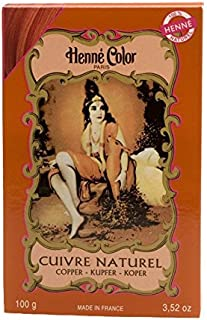 Henne Color Henna Powder Hair Colour Copper Red 100g (Pack of 6) - ヘンカラーヘナパウダーヘアカラー銅赤100グラム (x6) [並行輸入品]