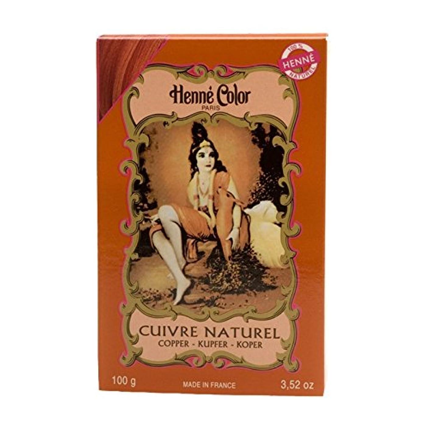 急勾配の信念唯一ヘンカラーヘナパウダーヘアカラー銅赤100グラム - Henne Color Henna Powder Hair Colour Copper Red 100g (Henne Color) [並行輸入品]