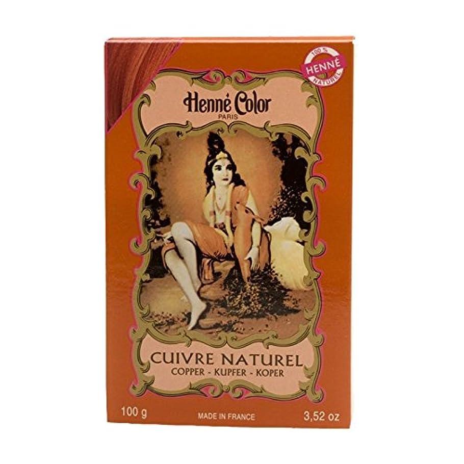 ポット祖先外観ヘンカラーヘナパウダーヘアカラー銅赤100グラム - Henne Color Henna Powder Hair Colour Copper Red 100g (Henne Color) [並行輸入品]
