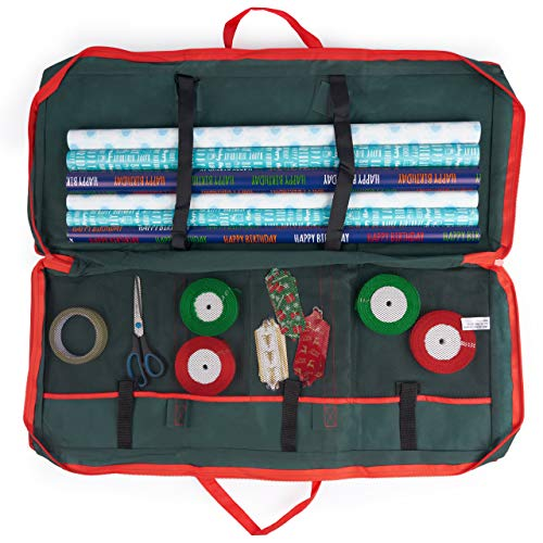 THE TWIDDLERS Weihnachten Geschenkpapier Geschenkverpackung Aufbewahrungstasche Organizer - Weihnachts Papierrollen, Geschenkanhänger, Etiketten, Schleifen & Zubehör.