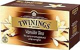Twinings Tè Aromatizados - Vainilla - Precioso té Negro Aromatizado con Frutas, Flores, Especias y Esencias - Sabor Envolvente, Excelente tanto Caliente como Frio (25 Bolsas)