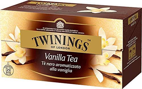 Twinings Tè Aromatizzati - Vaniglia - Tè Nero Aromatizzato alla Vaniglia - Carattere Avvolgente e Sapore Dolce - Perfetto se Caldo durante tutta la Giornata (50 Bustine)