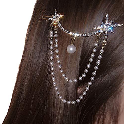 OMKMNOE Horquillas con Cristales, Metal Starfish CLILPLE CLILL CLILL TRIÑO Pantalla DE Pelo para LA Boda Accesorios DE Pelo,1