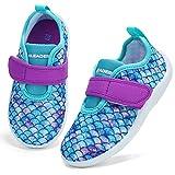 ALEADER Kids Water Shoes Toddler Girl Slip On Pool Swim Shoes Barefoot Aqua Shoe Mermaid Scale 5-6 US Toddler