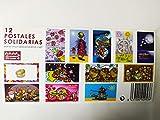 POSTALES SOLIDARIAS 1 PAK DE 12 UNIDADES