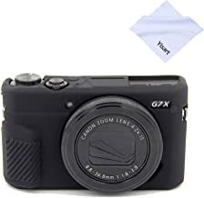G7X Mark II Case G7X Mark III Case G7X Camera Silicone Case Ultra-Thin Lightweight Rubber Soft Silicone Case Bag Cover for Canon PowerShot G7X G7X Mark II G7X Mark III + Microfiber Cloth (Black)