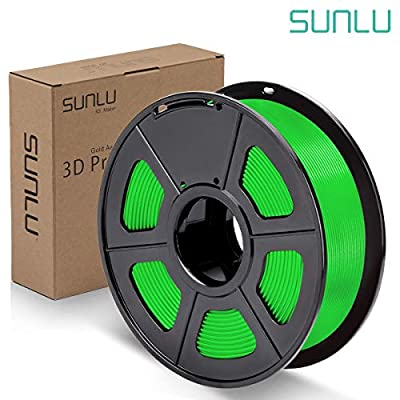 SUNLU PLA Plus Filament 1.75mm 3D Printer 3D Pens 1KG PLA+ Filament +/- 0.02 mm, Green