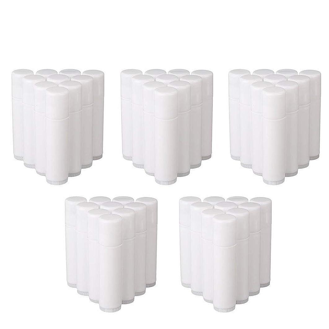 アドバンテージ未亡人ルールCOOLBOTANG リップバームチューブ リップクリーム 繰り出し ホワイト 手作りコスメ 手作り化粧品/リップクリーム 50個 5g ミニ 詰め替え容器