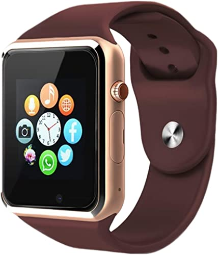 A1 Bluetooth Android 4G Watch with Camera SIM Card Slot Sports Tracker Smart Watch for Men Compatible with Android and iOS Smartphones