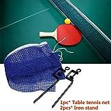 MZY1188 Juego de Red de Tenis de Mesa de reemplazo Plegable, Suministros de Entretenimiento Deportivo de Malla de Tenis de Mesa con Soporte de Hierro porttil al Aire Libre 2