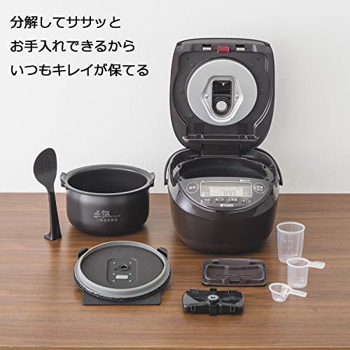 タイガー魔法瓶(TIGER)炊飯器1升圧力IH土鍋コーティング炊きたてブラウンJPK-B180T
