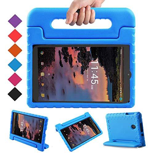 BMOUO Funda para Alcatel Joy Tab 8 2019/T-Mobile 3T 8 Tablet 2018/A30 Tablet 8 2017, funda ligera a prueba de niños con asa para Alcatel Joy Tab 2019/Alcatel 3T 8 2018/A30 8' 2017, color azul