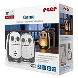 reer Cosmo Babyphone, 600m Reichweite, mit Nachtlicht, Vibrations-Alarm und Gegensprechfunktion