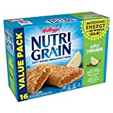 Kellogg's Nutri-Grain Soft Baked Apple Cinnamon Breakfast Bars - School Lunchbox Snacks, Individual Wrapped Bars (16 Count)