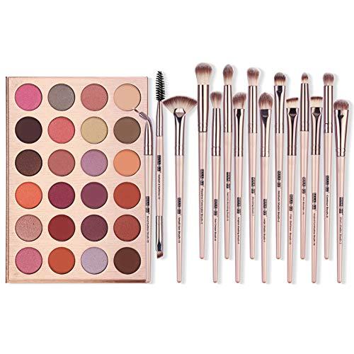 Ardorlove Ardorlove 24-Color Eyeshadow Palette Produits Cosmétique Avec 12 Pcs Maquillage Pour Les Yeux Brosses Maquillage Des Yeux