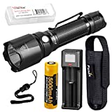 Fenix TK22 v2.0 1600 Lumen 442 Yard Long Throw Tactical Flashlight with Fenix 5000mAh Battery, Charger, and LumenTac Battery Organizer