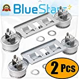 Ultra Durable WB16K10026 Double Burner Assembly Replacement Part by Blue Stars - Exact Fit for GE Kenmore Ranges - Replaces 868697 AP2633210 WB16K10003 - PACK OF 2