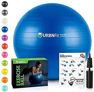 URBNFit Exercise Ball (Multiple Sizes) for Fitness,...