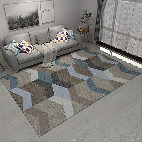 Kunsen Decoracion Comedor alfombras de Pasillo Alfombra Rectangular Gris Resistencia al Terciopelo Corta Decoración de la Sala de Estar Moderna Alfombra de habitacion 120X160CM 3ft 11.2' X5ft 3'