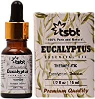 TSBT Eucalyptus Essential Oil for Steam inhalation, Pain management, Aromatherapy, Hair Care