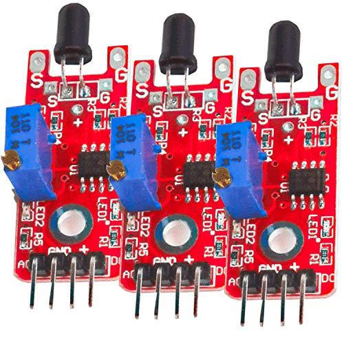 AZDelivery 3 x Vlammensensor KY-026 Module Branddetector voor Arduino