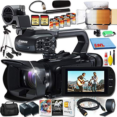 Check Out This Canon XA45 4K Camcorder with JVC Microphone, Godox Video Light and Corel Programs Mac...