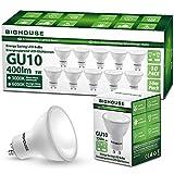 Bombillas LED GU10, 5W, 400lm, 3000K Blanco Cálido, Equivalente a Bombillas Halógenas de 50W, ángulo de haz de 120° (Paquete de 10)