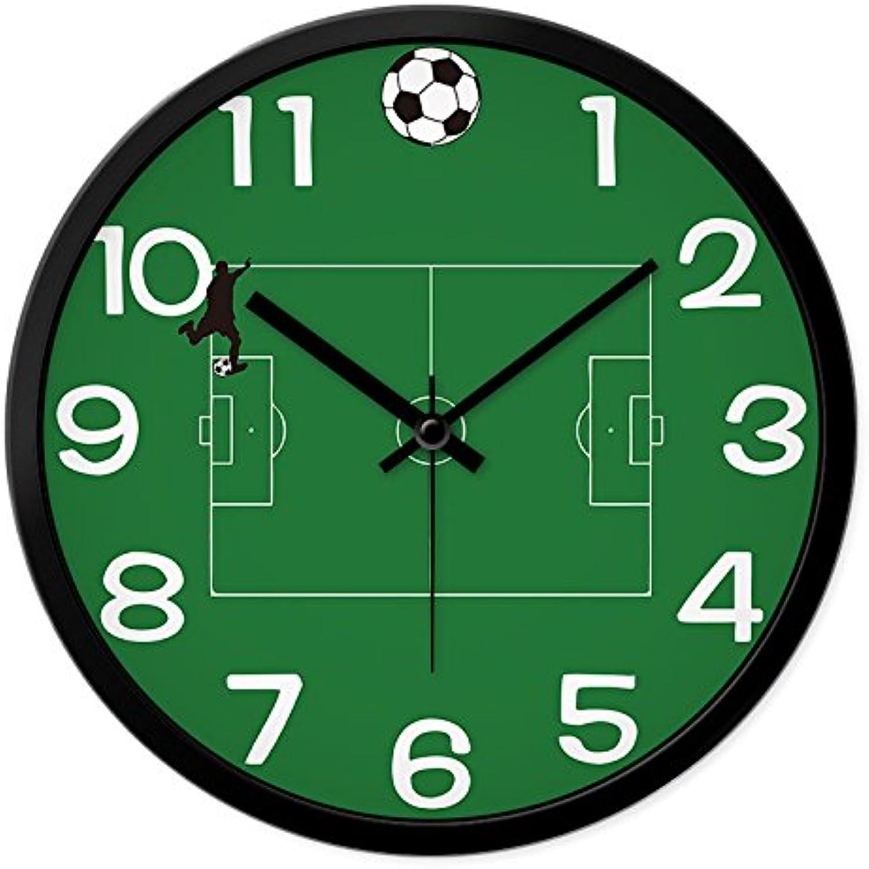 Komo silencioso Moderno Decoración Adorno para Hogar Creative Reloj de Parojo Reloj de Cuarzo Reloj Mute,12 Pulgadas,Negro Caja Negra