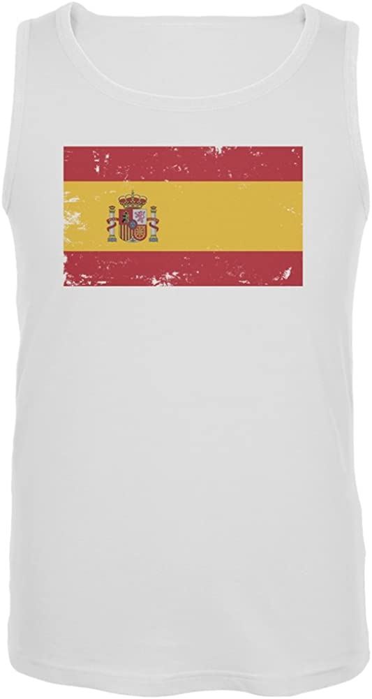 Old Bombing new work Free shipping / New Glory - Spain Tank Flag Top Distressed