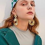 Erin Pendientes Grandes De Galletas Mujeres Creativas Geométricas Exageradas Pendientes Redondos Metálicos Irregulares para Mujeres Joyas De Niña