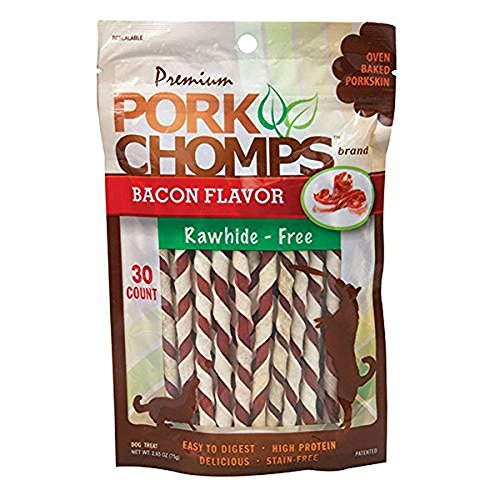 Pork Chomps Twizts - 30 ct - Small/Mini Dogs - Bacon