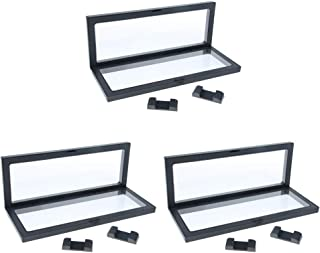 MagiDeal 3 Pieces 3D Floating Jewelry Display Frame Case Box Coin Display Stand Rack Holder 9x23cm