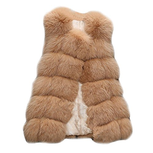 FOLOBE Womens 'Winter Warm Faux Pelz Weste Mantel Jacke
