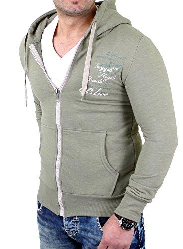 Tazzio Sweatjacke Herren Authentic Style TZ-203 Khaki S