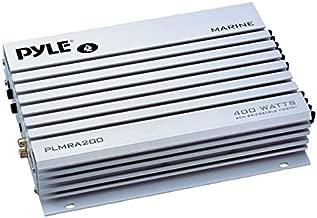 Pyle Hydra Marine Amplifier - Upgraded Elite Series 400 Watt 2 Channel Bridgeable Audio Amplifier - Waterproof,  Dual MOSFET Power Supply, GAIN Level Controls, RCA Stereo Input & LED Indicator (PLMRA200)