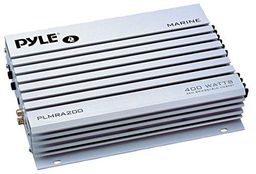Pyle PLMRA200 - Amplificatore impermeabile collegabile a ponte, 2 canali, 400 W