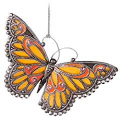 Lift holiday spirits with this lovely orange butterfly Keepsake Christmas ornament. Gems, metallic accents and scalloped edges add elegance to this monarch-inspired design. 4th in the Brilliant Butterflies series. Christmas tree ornament is 4th in th...