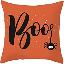 Unionm 12# Pillow Covers Decorative Throw Pillow Case Halloween Ghost Witch Pumpkin Printed 45cm x 45cm 18 x 18 inches Cushion Cover for Home Sofa Car 1 Pack