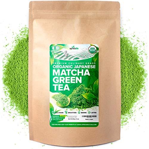 AprikaLife Premium Organic Japanese Matcha Green Tea Powder - USDA & JAS Organic - Authentic Japanese Origin - Culinary Grade - [1.1 LB Value Size]…