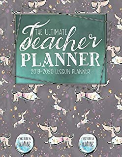 The Ultimate Teacher Planner 2019 - 2020 Lesson Planner: Unicorn Weekly Lesson Plan | School Education Academic Planner | Teacher Record Book | Class ... | Password Manager | Organizer Gift | Pretty