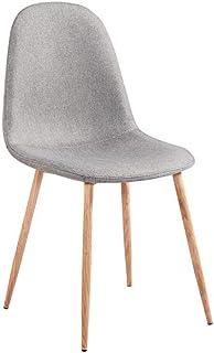 ZONS – Lote de 4 sillas de madera de Estocolmo de color gris y madera