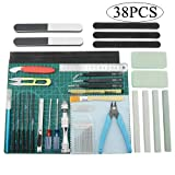 BXQINLENX Professional 38 PCS Gundam Model Tools Kit Modeler Basic Tools Craft Set Hobby Building Tools Kit for Gundam Car Model Building Repairing and Fixing(P)