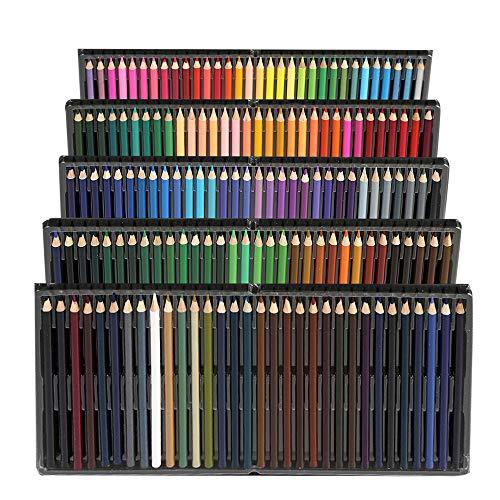 160 Matite Colorate Acquerellabili,Multicolore per Disegnare e Libri,Matite da Disegno Professionali,Set Ideale per Artisti, Adulti e Bambini